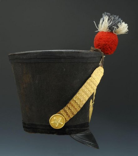 Antiquités - shako of the 65th line infantry fusil regiment, model 1812, first empire
