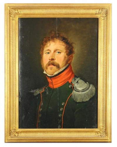 Portrait Of A Second Lieutenant Of The 4th Regiment Of Hunters On Horseback