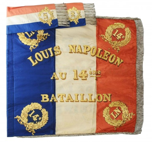 Flag of the 14th battalion of the national guard of the seine, model 1852, presidency of Louis Napoleon