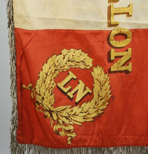 Flag of the 14th battalion of the national guard of the seine, model 1852, presidency of Louis Napoleon -