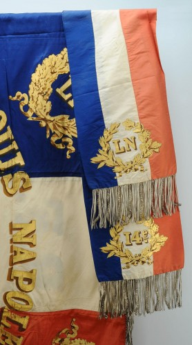 19th century - Flag of the 14th battalion of the national guard of the seine, model 1852, presidency of Louis Napoleon