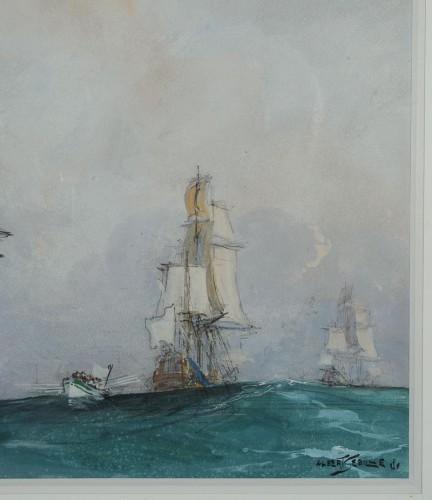 Albert SÉBILLE (1874-1953) - Louis XIV Vessel  - Paintings & Drawings Style