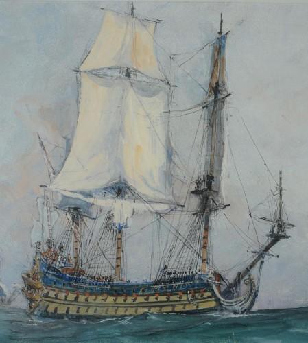 Paintings & Drawings  - Albert SÉBILLE (1874-1953) - Louis XIV Vessel
