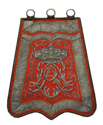 Sabretache d'officier de hussards du régiment de Bercheny