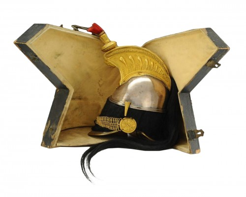 Casque d'officier de cuirassiers, modèle 1844, monarchie de juillet-second empire.