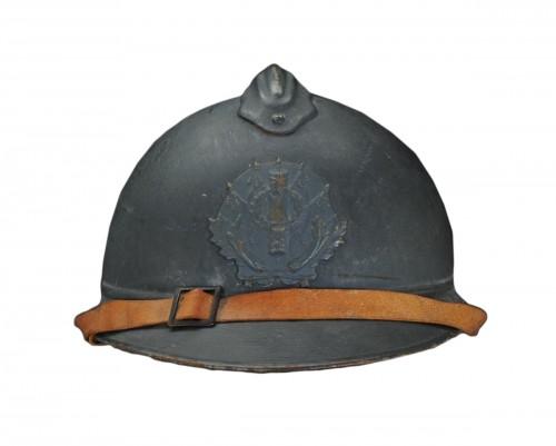 Casque adrian de l'intendance, modèle 1915, Première Guerre Mondiale.