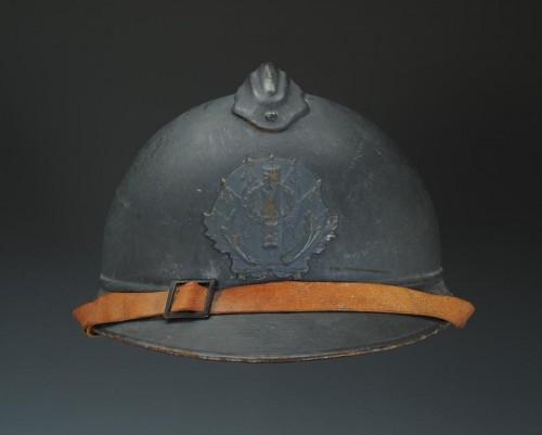 Casque adrian de l'intendance, modèle 1915, Première Guerre Mondiale. - Collectibles Style Art nouveau