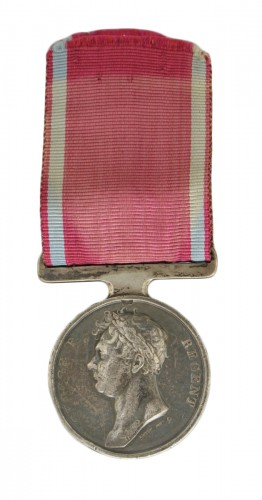 Médaille de waterloo, attribuée au sergent-major edward cotton