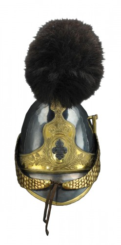 Casque d'officier de la garde nationale à cheval, modèle 1814-1830
