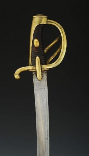Antiquités - SABRE DE CAVALERIE LÉGÈRE, MODÈLE AN XI, PREMIER EMPIRE