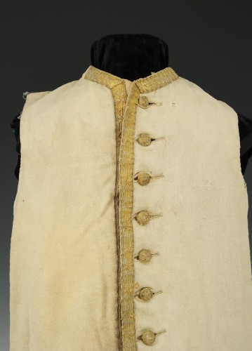 Gilet blanc, seconde moitié de l'ancienne monarchie - Collections Style Louis XV