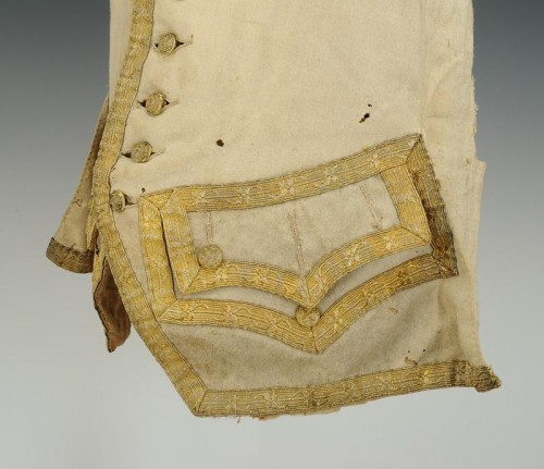 Louis XV - Gilet blanc, seconde moitié de l'ancienne monarchie