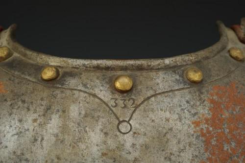 Antiquités - CUIRASSE D'OFFICIER DE CUIRASSIERS premier type 1804, Premier Empire.