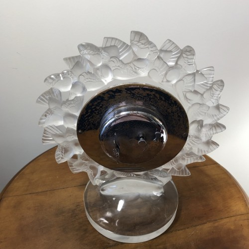 Antiquités - 1931 Rene Lalique Roitelets Clock Clear Glass Enamel Dial Omega Movement