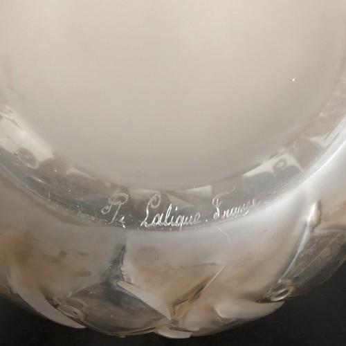 1928 René Lalique - Penthievre Vase in Clear Glass with Sepia Patina - Fishes - Art Déco