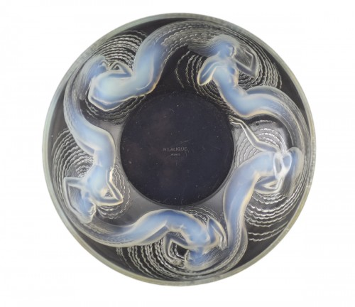 1932 Rene Lalique Calypso Bowl Opalescent Glass - Mermaids