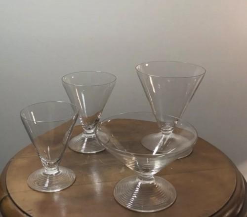 1937 Rene Lalique Arbois Glasses Set 38 Pieces - 36 Glasses + 2 Decanters  - Glass & Crystal Style Art Déco