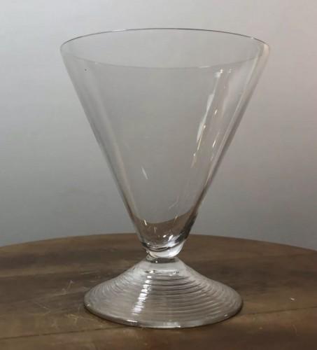 1937 Rene Lalique Arbois Glasses Set 38 Pieces - 36 Glasses + 2 Decanters  -