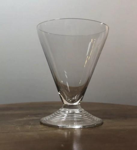 1937 Rene Lalique Arbois Glasses Set 38 Pieces - 36 Glasses + 2 Decanters  - Art Déco