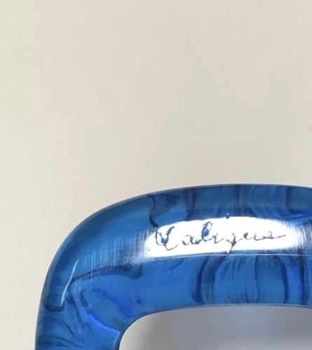 1920 René Lalique - Electric Blue Frogs - Glass & Crystal Style Art Déco
