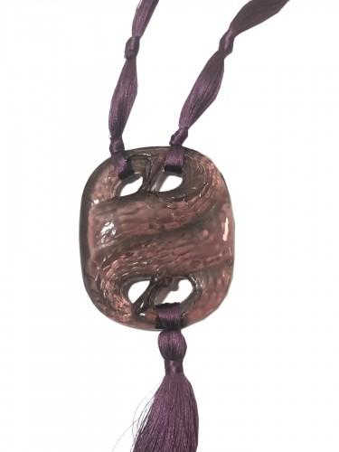 1920 René Lalique - Amethyst Snakes Pendant