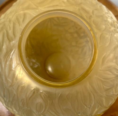 1920 Rene Lalique Gui Vase in Yellow & Opalescent Glass - Mistletoe -