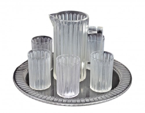 1931 Rene Lalique - Jaffa Set of 8 pieces