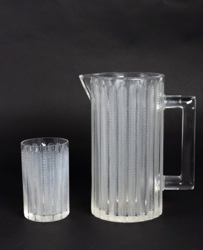 1931 Rene Lalique - Jaffa Set of 8 pieces - Glass & Crystal Style Art Déco