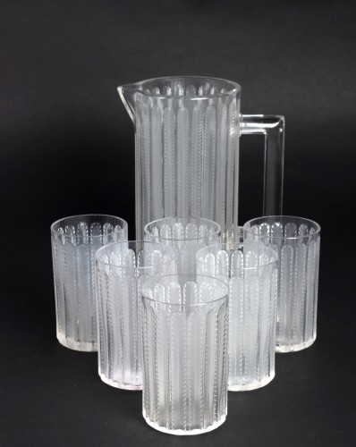 20th century - 1931 Rene Lalique - Jaffa Set of 8 pieces