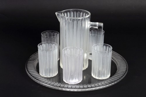 Art Déco - 1931 Rene Lalique - Jaffa Set of 8 pieces