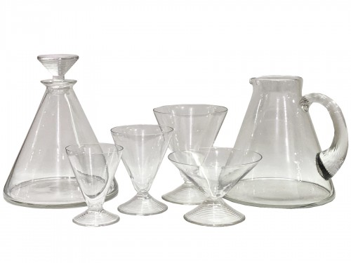 1937 Rene LALIQUE - Arbois Set in Clear Glass - 50 Pieces