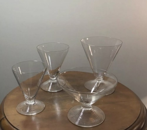 1937 Rene LALIQUE - Arbois Set in Clear Glass - 50 Pieces - Glass & Crystal Style Art Déco