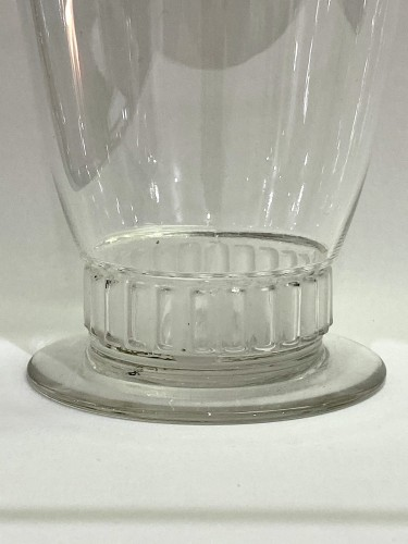 Glass & Crystal  - 1930 Rene LALIQUE - Orange Set Bambou of 9 Pieces