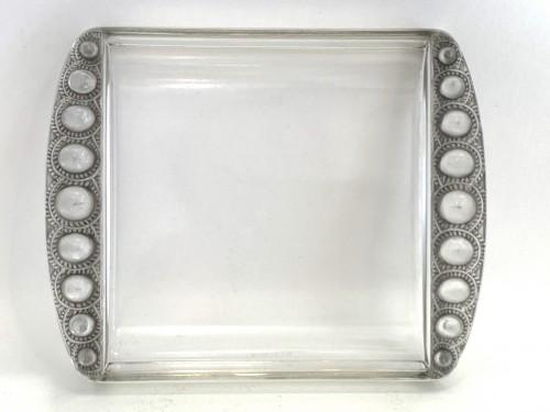 1938 Rene LALIQUE - Plates Set Ermitage - Glass & Crystal Style Art Déco