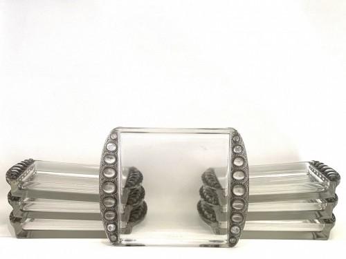 1938 Rene LALIQUE - Plates Set Ermitage - Art Déco
