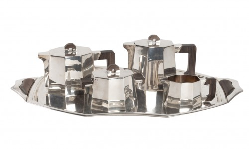 Demarquay - Coffee Tea Set In Silver 1st Grade And Macassar