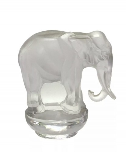 1931 - Rene Lalique - Paperweight Toby Elephant Frosted Glass