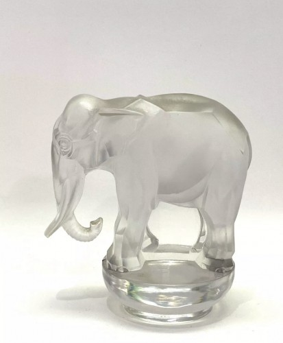 1931 - Rene Lalique - Paperweight Toby Elephant Frosted Glass - Glass & Crystal Style Art Déco