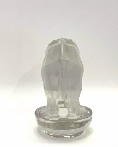 Glass & Crystal  - 1931 - Rene Lalique - Paperweight Toby Elephant Frosted Glass
