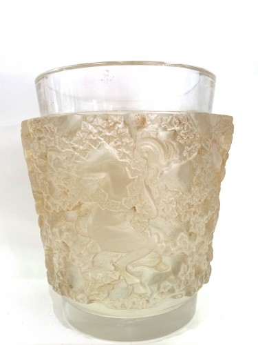 Glass & Crystal  - 1938 René Lalique - Vase Bacchus
