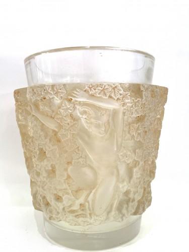 20th century - 1938 René Lalique - Vase Bacchus