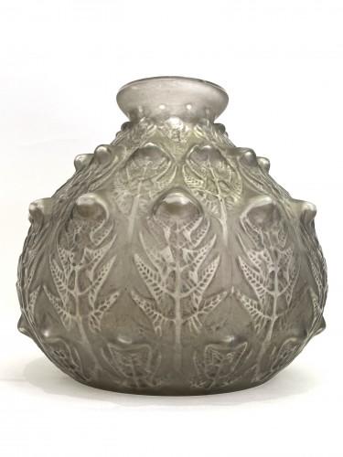 """1912 René Lalique - Vase """"Fougères""""  - Glass & Crystal Style Art nouveau"""