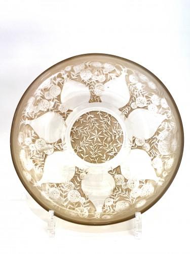 """1921 René Lalique - Set of six plates """"Vases""""  - Glass & Crystal Style Art Déco"""