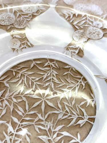 """1921 René Lalique - Set of six plates """"Vases""""  -"""