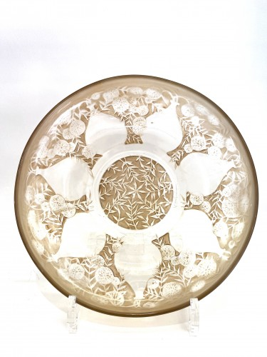 "1921 René Lalique - Set of five plates ""Vases""  - Glass & Crystal Style Art Déco"