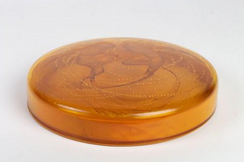 """1921 René Lalique - Box """"Deux Sirènes""""  - Glass & Crystal Style Art Déco"""