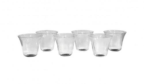 """1922 René Lalique - Set Of 8 """"Pavot"""" drinking glasses"""
