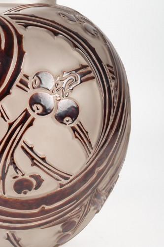 """1924 René Lalique - Vase """"Baies"""" - Glass & Crystal Style Art Déco"""