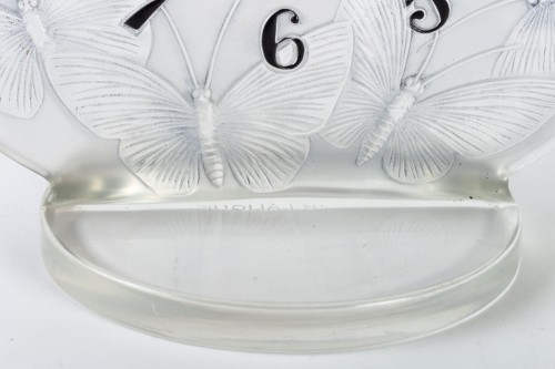 "1931 Rene Lalique - Clock ""Papillons"" Original Mechanical Omega Movem -"