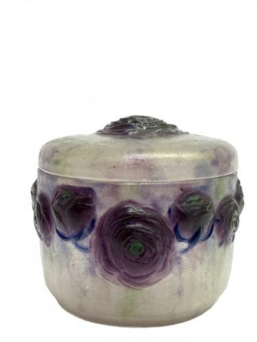 1921 Gabriel Argy-rousseau - Box Jar Roses Renonculus